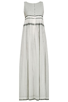 White and Grey Maxi Dress