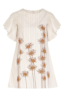 Kora Knee Length Embroidered Dress by Irabira