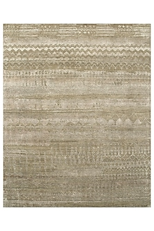 Dark Toupe Wool & Silk By Kavi Rug by Jaipur Rugs