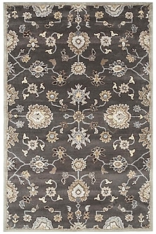 Grey & Black 100% Wool Poeme Rug by Jaipur Rugs