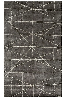 Grey & Black Geometric Rug by Jaipur Rugs