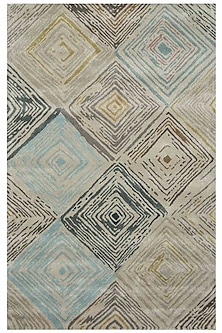 Grey & Black Geometric Dritto Rug by Jaipur Rugs