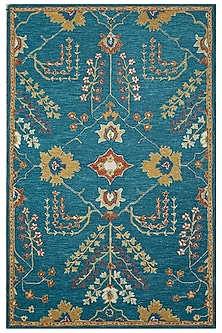 Blue 100% Wool Oriental Kilan Rug by Jaipur Rugs