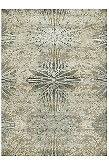 Antique White Wool & Silk Rug by Jaipur Rugs