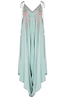 Mint Green Embroidered Dhoti Style Jumpsuit