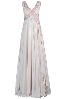 Ivory Drape Gown