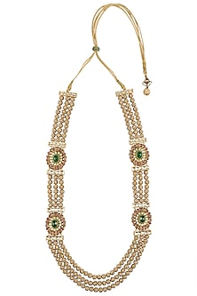 Gold Plated Pachi Jadtar Necklace by Just Jewellery