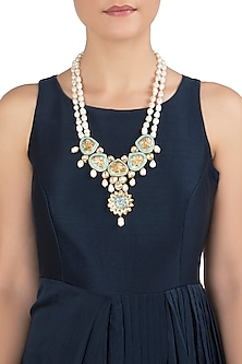 Gold Plated Barrak Pearls Necklace