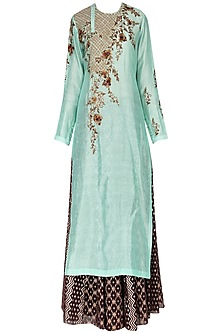 Mint Green Kurta With Skirt Set