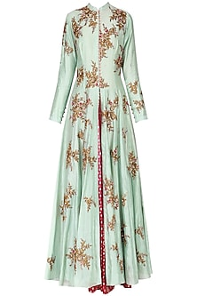 Mint Green Embroidered Anarkali Set