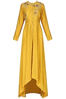 Yellow Embroidered Tunic
