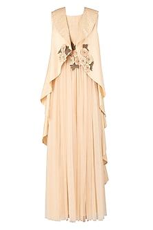 Blush Pink Embellished Maxi Dress by Jyoti Sachdev Iyer