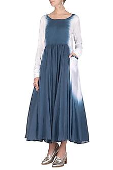 Cobalt Blue Dip-Dyed Dress by Ka-Sha