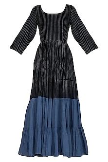 Black Embellished Tie-Dye Dress by Ka-Sha