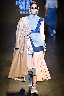 Camel color stitch jacket by Kanika Goyal