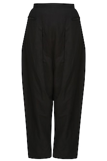 Black cotton jersey trouser pants