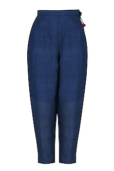 Blue Straight Fitted Pants by Ka-Sha