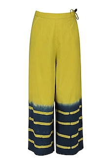 Lime Green Clamp Dyed Wide Legged Pants