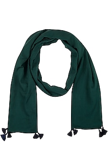Green Tassel Basic Scarf by Ka-Sha