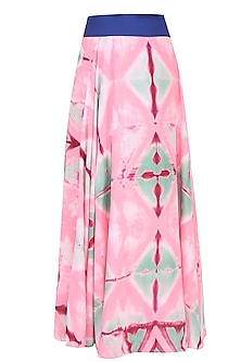 Blush Pink Clamp Dyed Reversible Wrap Around Skirt by Ka-Sha