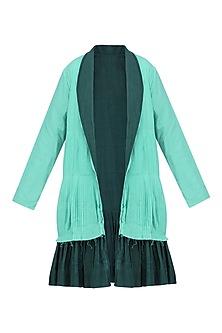 Dual Color Hand Clamp Dyed Jacket by Ka-Sha