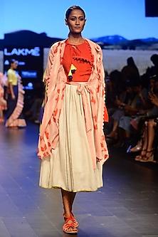 Pink Clamp Dyed Jacket by Ka-Sha