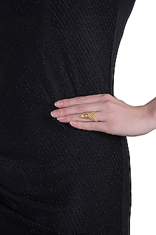 Gold plated antler ring