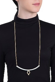 Gold and silver dual plated necklace