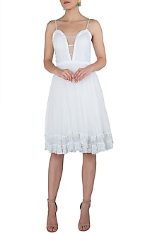 White strappy dress by KHWAAB