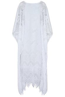 White kaftan dress