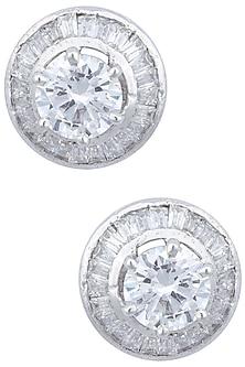 Silver plated spiral stud earrings by Kiwi by Musskan