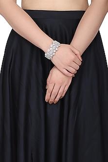 Silver plated diamond bracelet