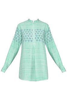 Mint Green Block Printed Short Tunic