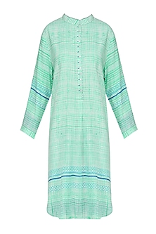 Mint Green Block Printed Tunic