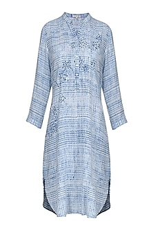 Blue and White Block Printed Tunic