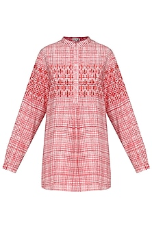 Pink Block Printed Short Tunic