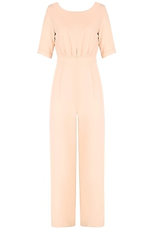 Nude Empire Waist Jumpsuit