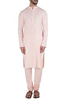 Cream Cotton Silk Kurta Set by Kommal Sood