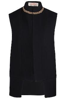 Black Embroidered Waist Coat