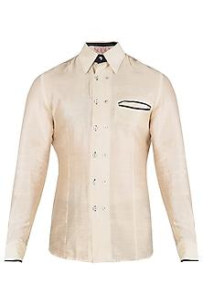 Off White Silk Shirt
