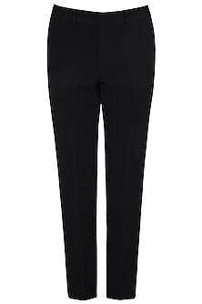 Black Slim Fit Trousers by Kommal Sood