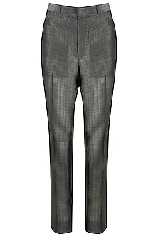 Grey Handloom Silk Trousers
