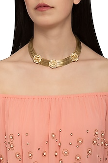 Gold plated hasli necklace