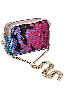 Multi colour embroidered debbie clutch bag by KNGN
