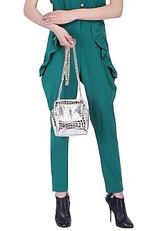Silver jenny clutch bag