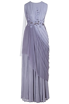 Lilac Embellished Cowl Gown
