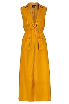 Yellow Collared Maxi Dress