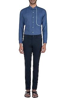 Blue striped shirt by KOS