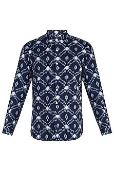 Indigo ikat shirt