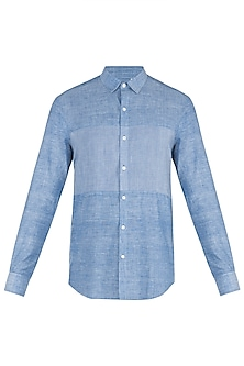 Chambray blue striped shirt by KOS